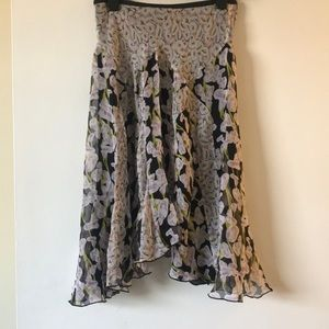 Diane Von Furstenburg Flower silk skirt